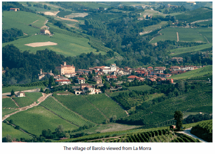 The village of Barolo viewed from La Morra