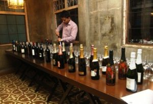 "Wines displayed at the ""Wines of India"" launch"