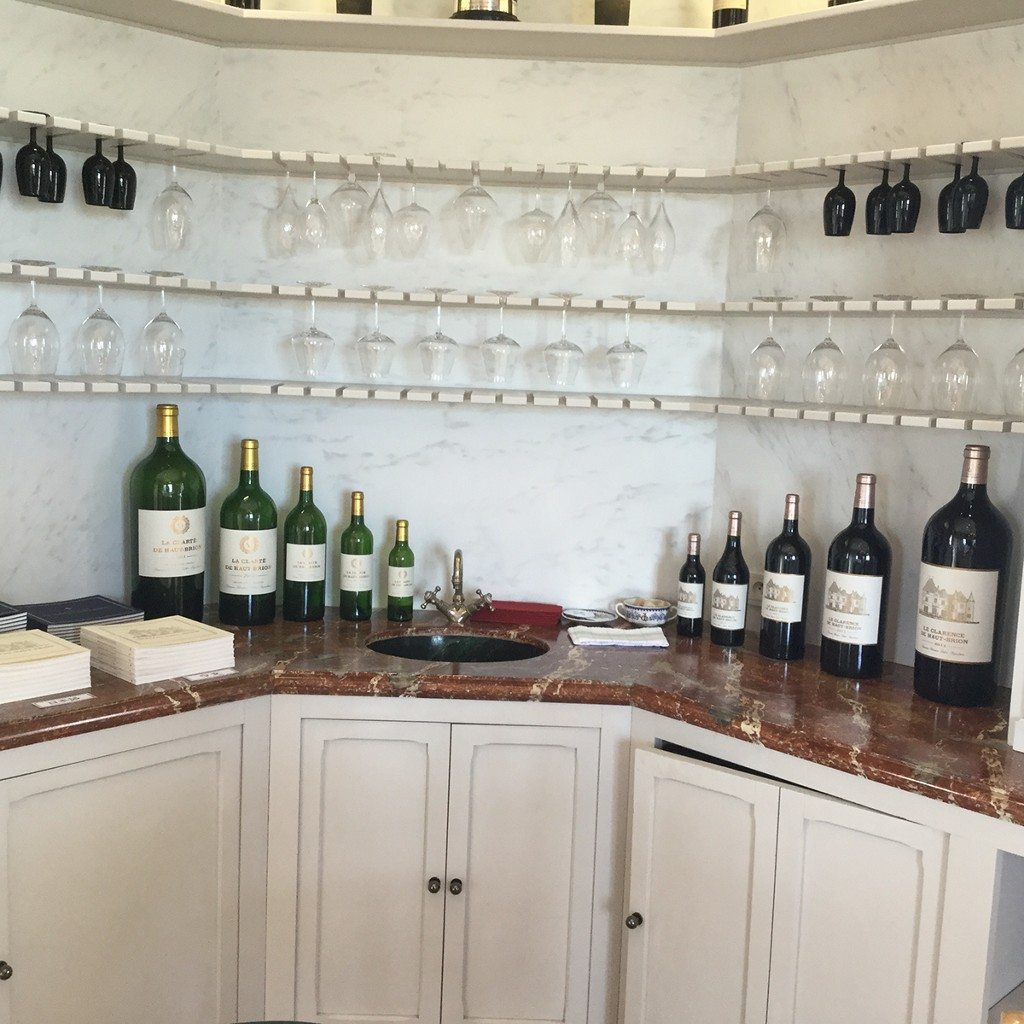 The tasting room at Ch. Haut Brion
